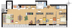 exemple plan d'appartement